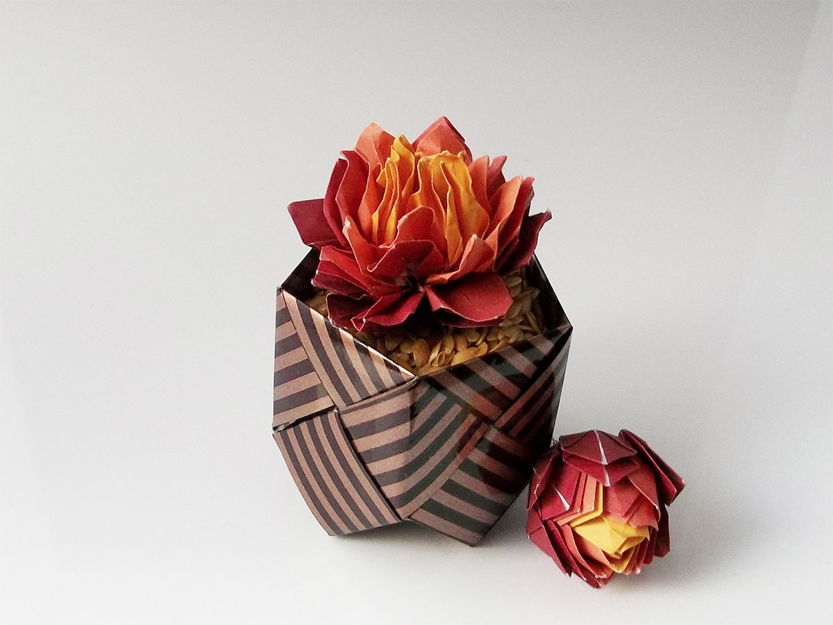 3D Origami Flower Pot 42 Beautiful Origami Flowers That Look Almost Like The Real Thing