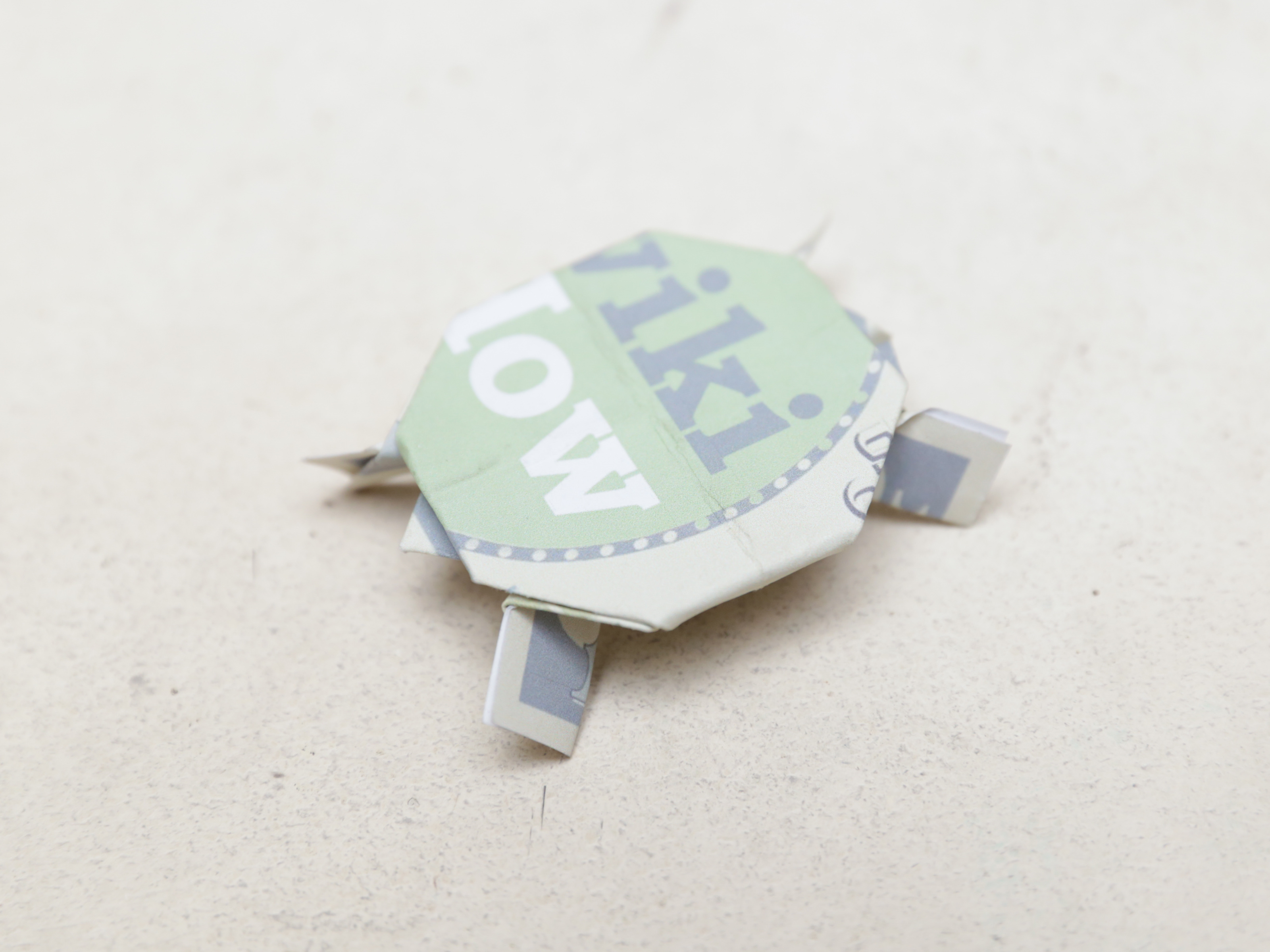 Bow Tie Origami Dollar Bill How To Make A Turtle Out Of A Dollar Bill With Pictures