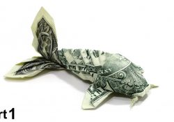 Dollar Bill Koi Fish Origami Instructions Origami Dollar Koi Fish Tutorial Won Park Part 1 1 Billete