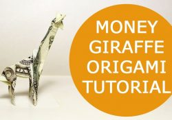 Dollar Bill Origami Giraffe Money Giraffe Origami 1 Dollar Tutorial Diy Folded No Glue And Tape
