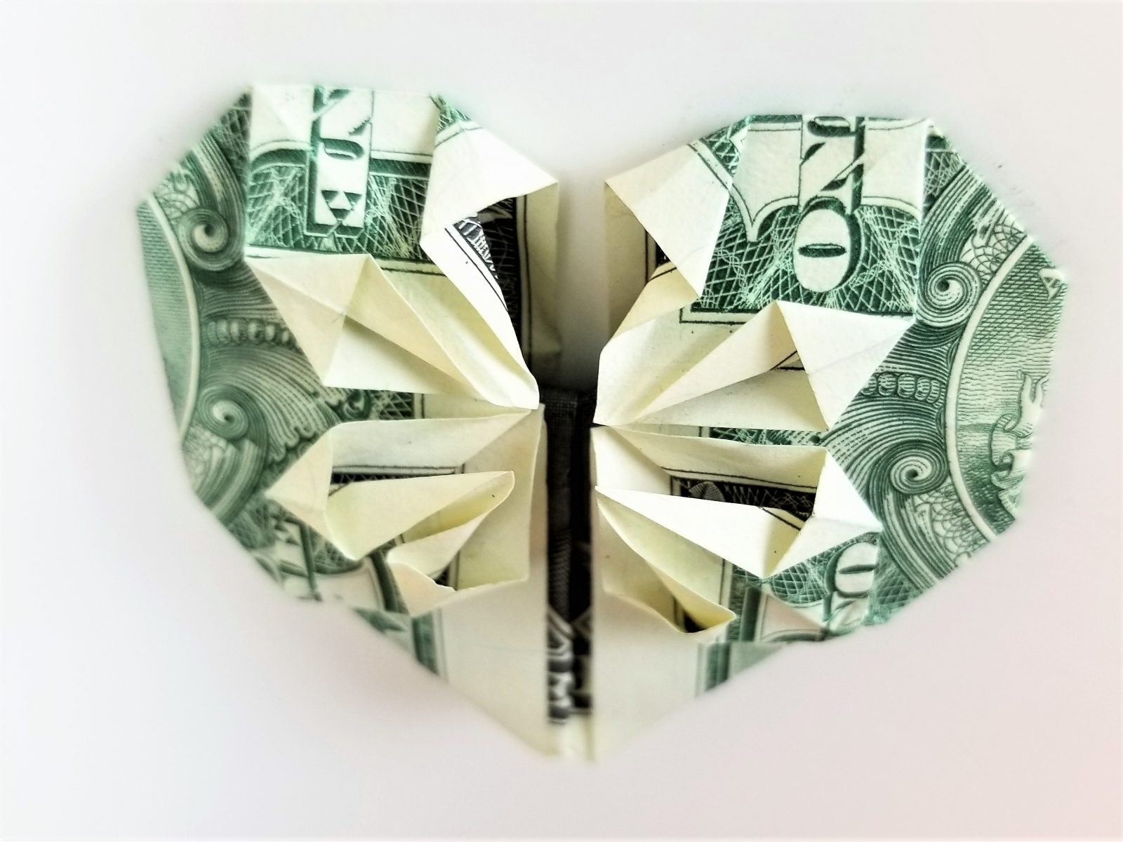 Dollar Bill Origami Heart Dollar Bill Origami Heart With Flower Fave Mom