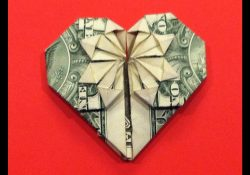 Dollar Bill Origami Heart Origami Dollar Heart Star Tutorial How To Make A Dollar Heart With Star