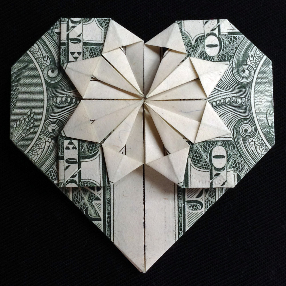 Dollar Bill Origami Heart Origami Heart Valentines Day Gift Money And 29 Similar Items