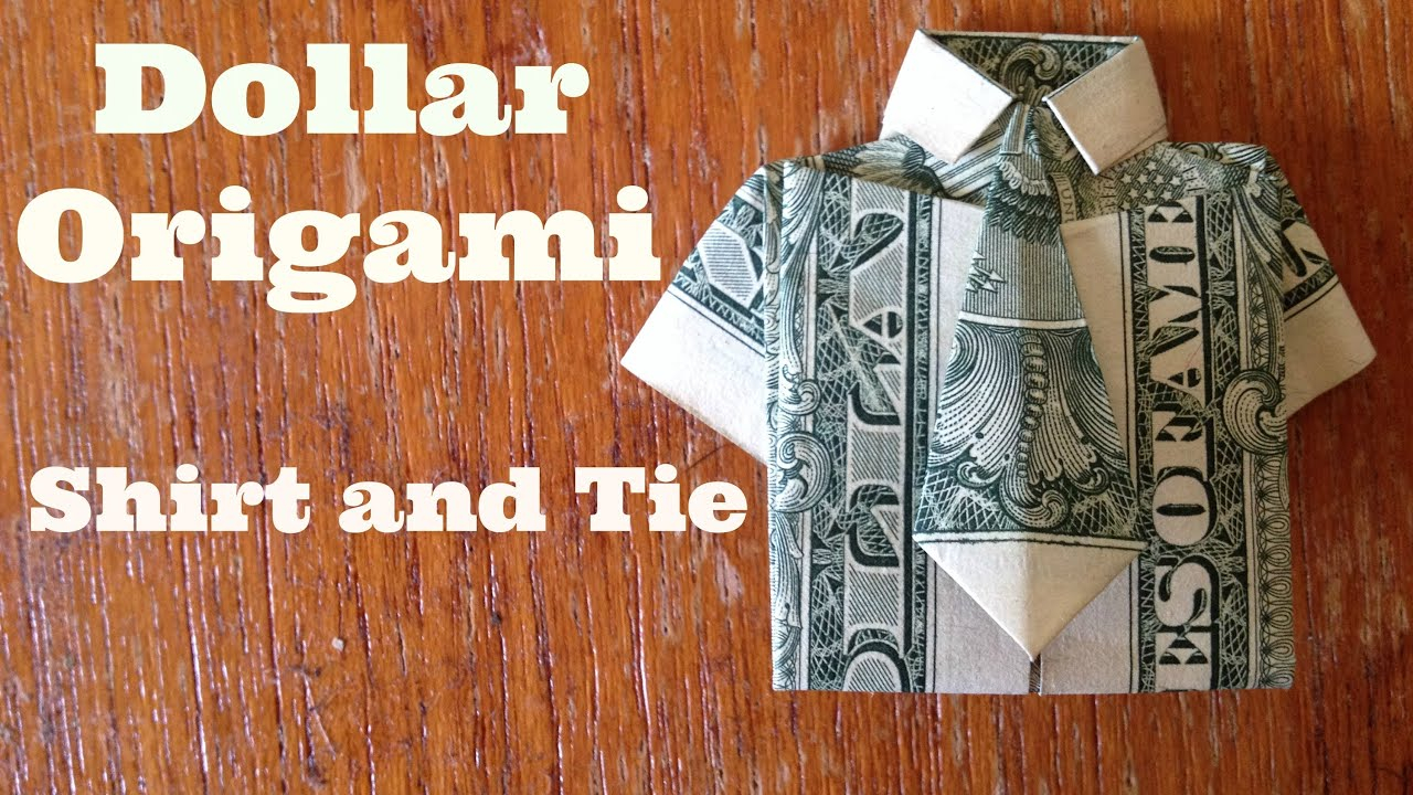 Dollar Origami Bow Tie Dollar Bill Origami Shirt And Tie 15 Steps With Pictures