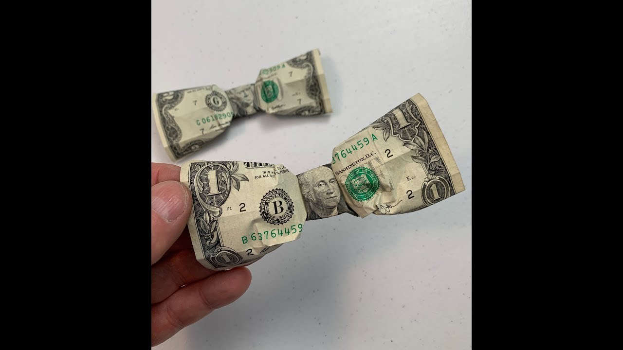 Dollar Origami Bow Tie Dollar Origami How To Fold A Bow From A Dollar Or Is It A Bow Tie