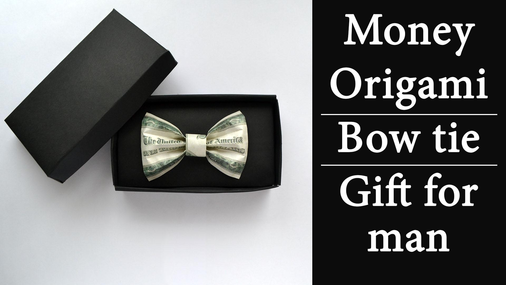 Dollar Origami Bow Tie Money Bow Tie In Gift Box Excellent Gift For Man Origami Dollar