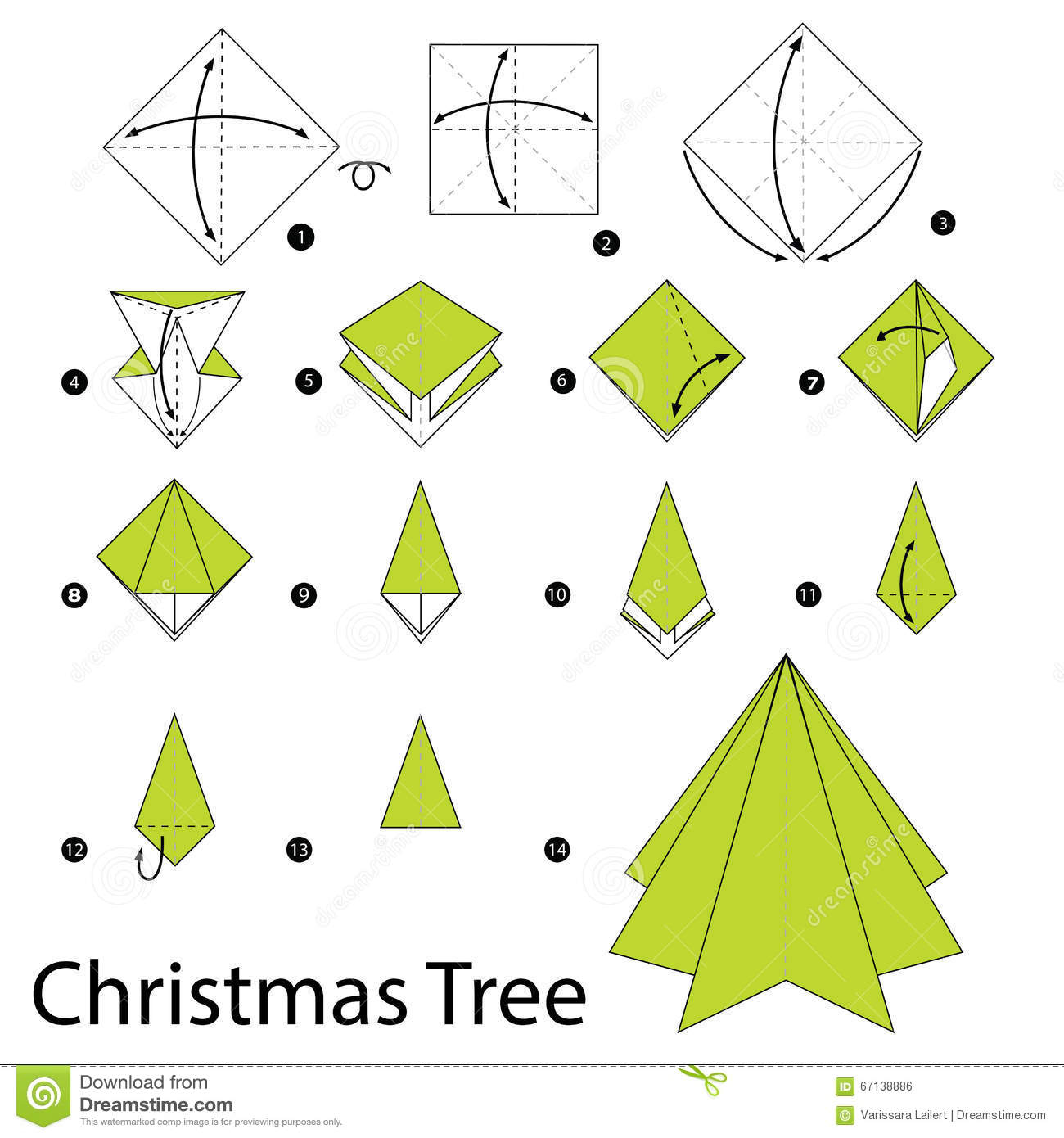 Easy Money Origami Instructions For Kids Christmas Tree Christmas Tree Origami How To Make A Christmas Tree
