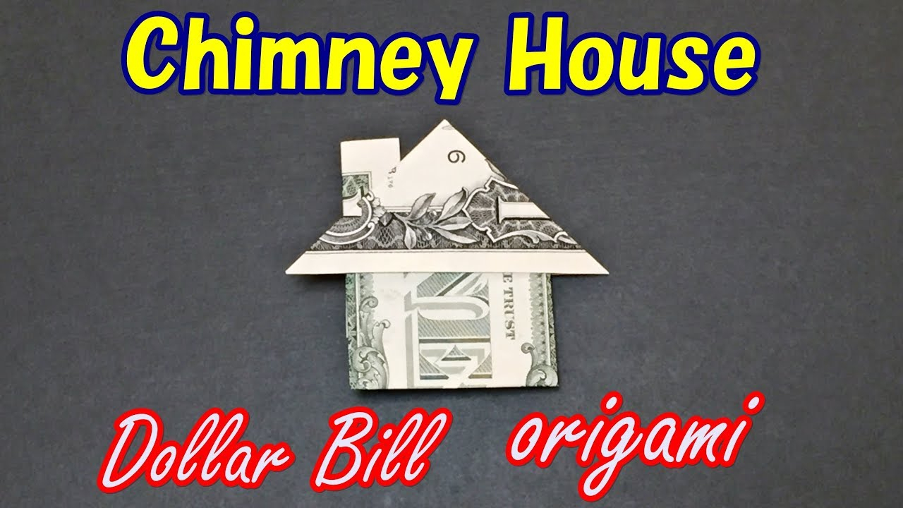Easy Money Origami Instructions For Kids Easy Money Origami For Beginners How To Make A House From 1 Dollar Bill Moneygami House