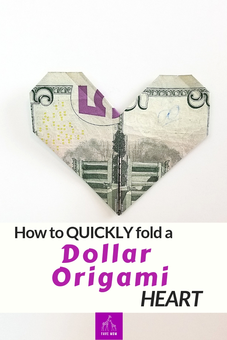 Easy Money Origami Instructions For Kids Fast Dollar Bill Origami Heart Fave Mom