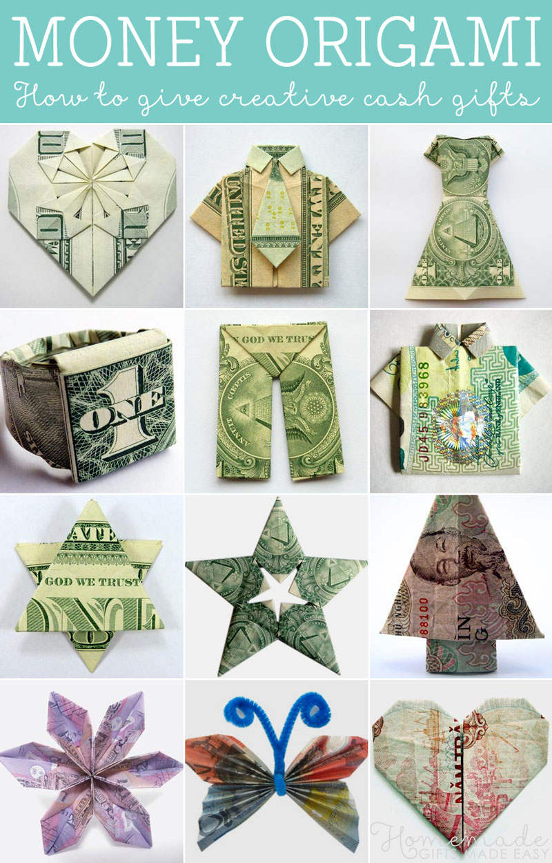 Easy Money Origami Instructions For Kids How To Fold Money Origami Or Dollar Bill Origami
