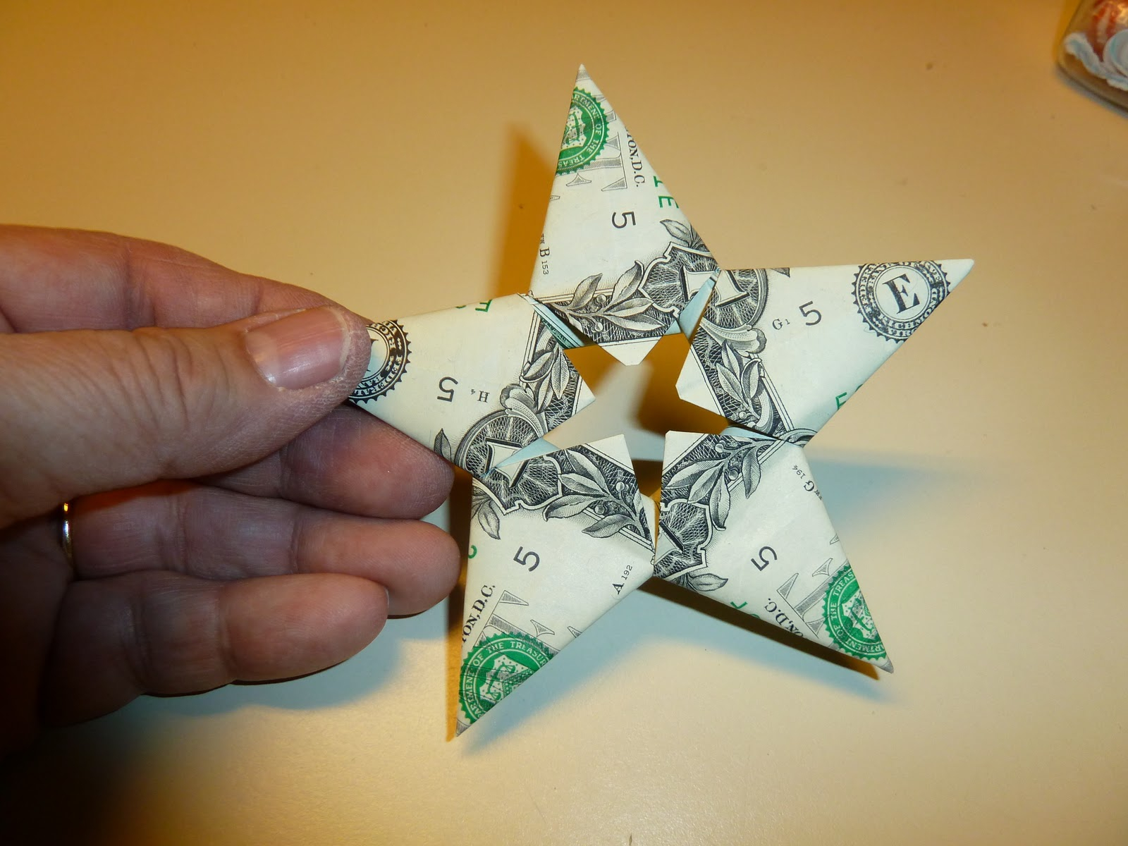 Easy Money Origami Instructions For Kids Make It Easy Crafts Easy Money Folded Five Pointed Origami Star