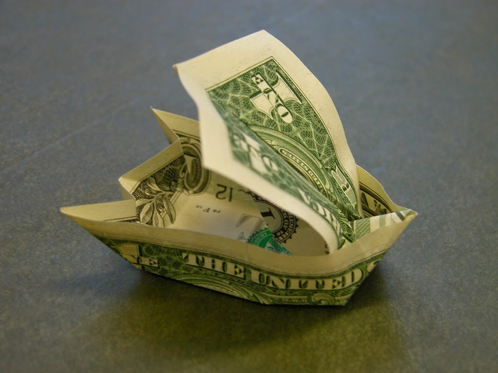Easy Money Origami Instructions For Kids Money Origami Sailboat Kids Origami Instructions Easy