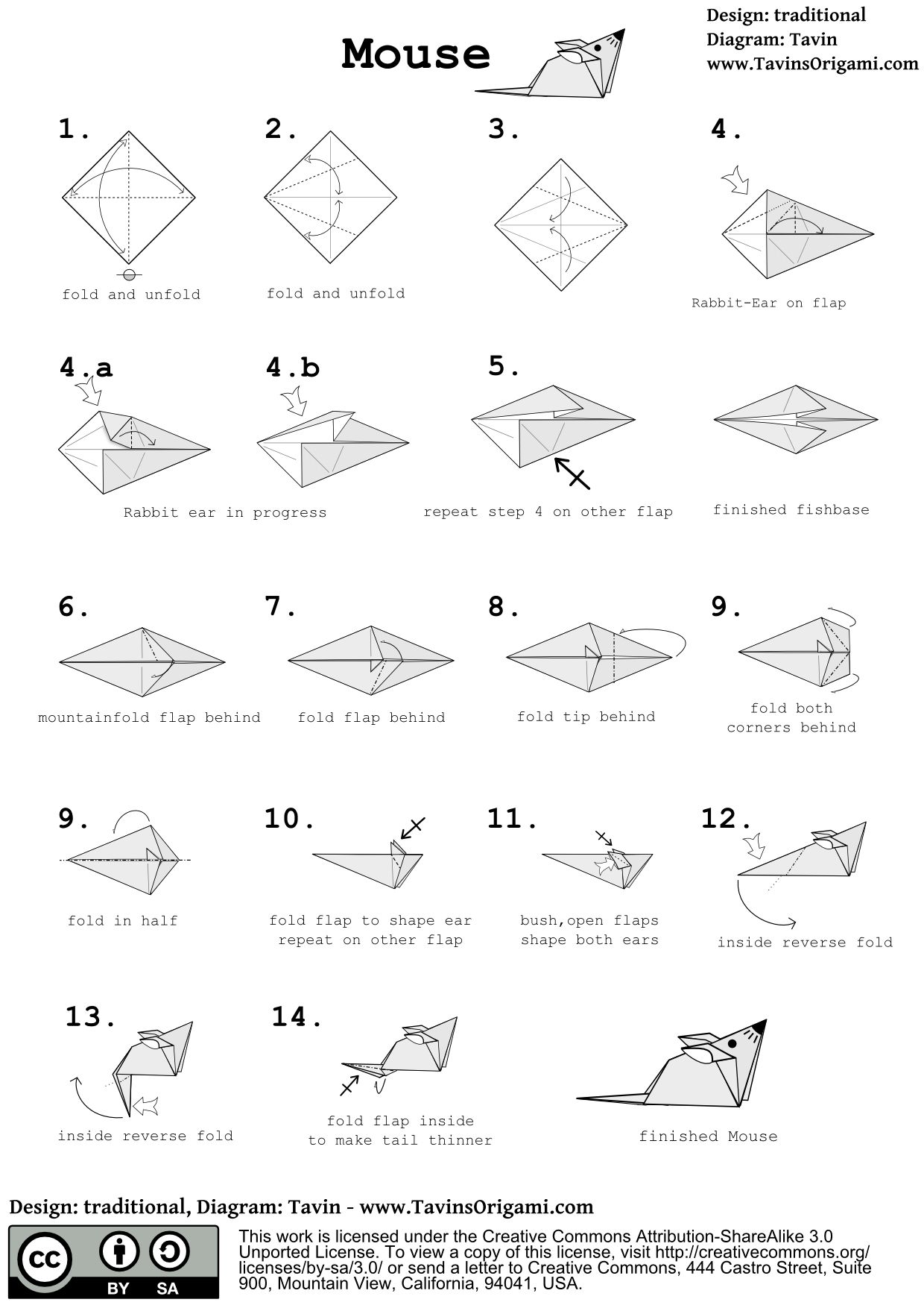 Easy Origami Diagrams 21 Chic Warnings Origami Animal Diagrams
