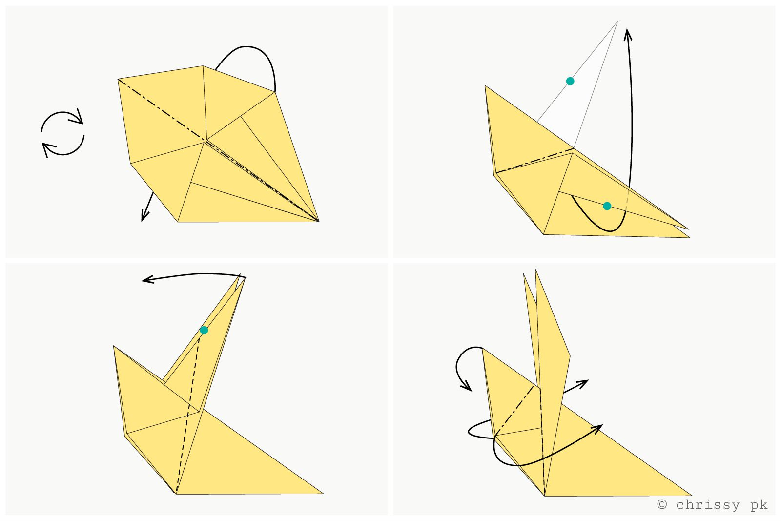 Easy Origami Diagrams How To Make A Traditional Origami Rabbit
