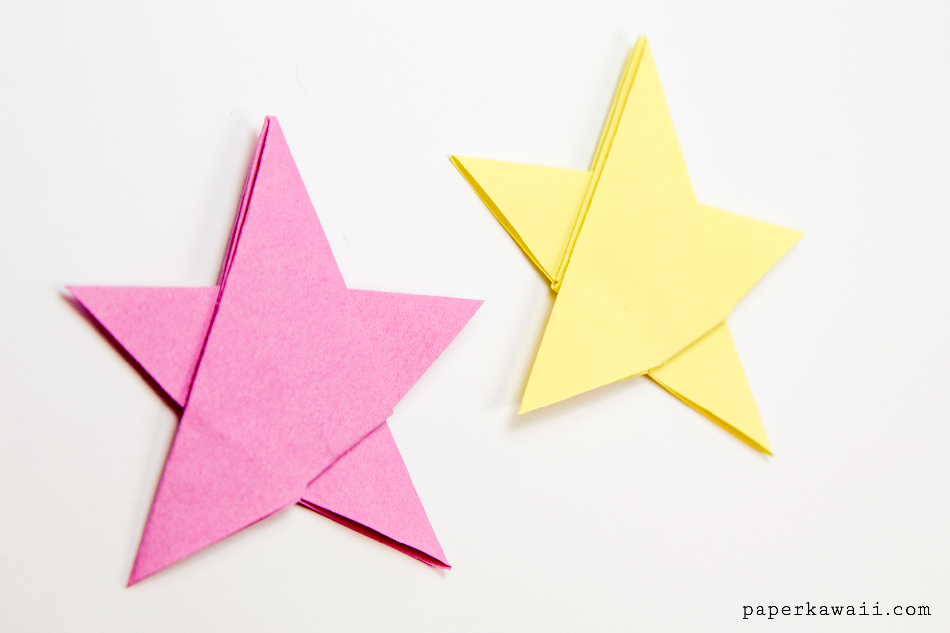 Easy Origami Diagrams Simple Origami 5 Point Star Tutorial 1 Sheet Paper Kawaii