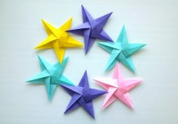 Easy Origami Star How To Make Origami Star Origami Easy
