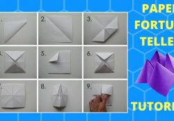 How Do You Make Origami Fortune Tellers How To Make A Fortune Teller Tutorial