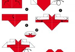How To Do A Heart Origami How To Make An Origami Heart With Wings Free Printable Papercraft