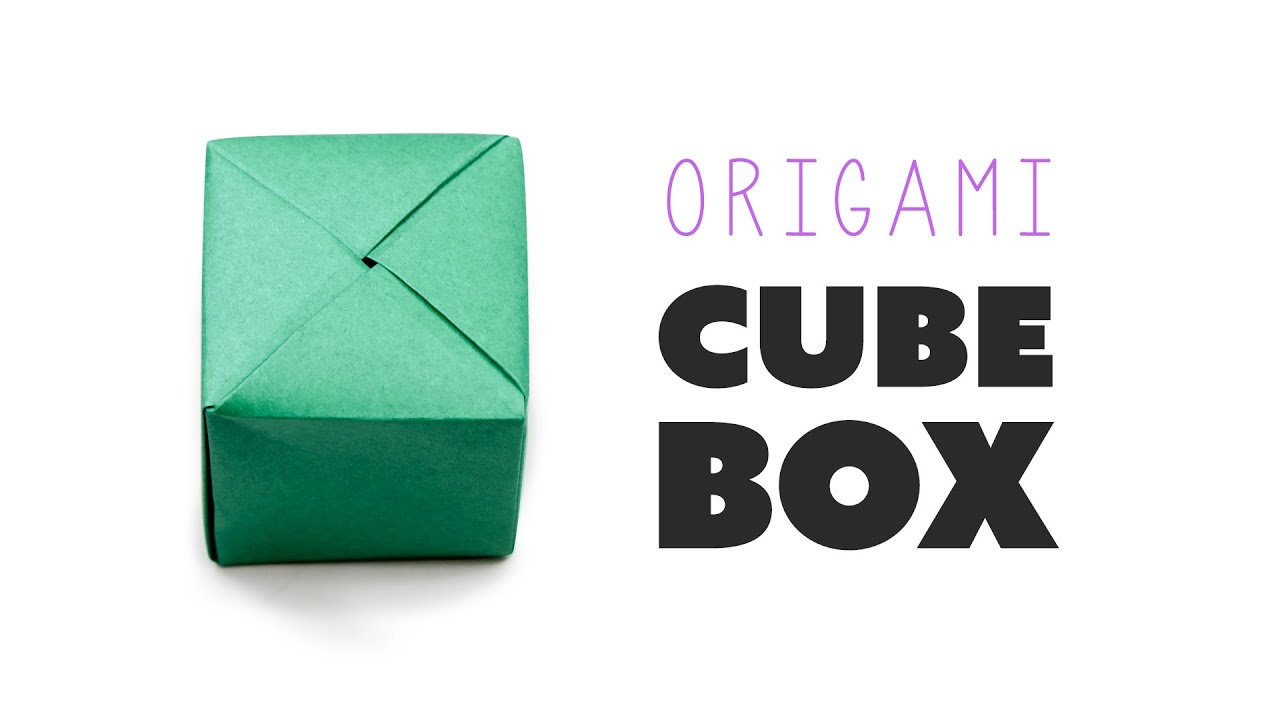 How To Fold Origami Cube Closed Origami Cube Box Instructions Diy Paper Kawaii