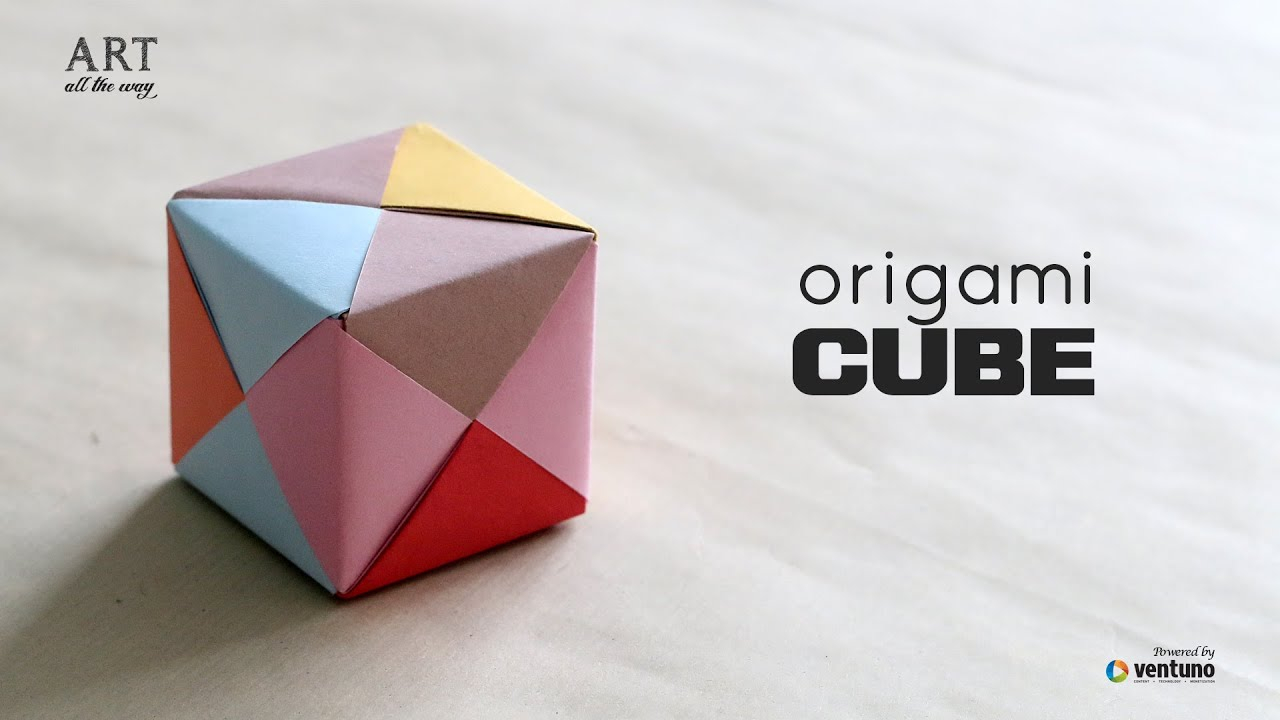 How To Fold Origami Cube How To Fold An Diy Origami 3d Cube