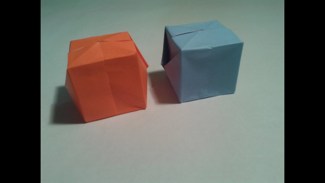 How To Fold Origami Cube How To Fold An Origami Cube With Pictures Wikihow