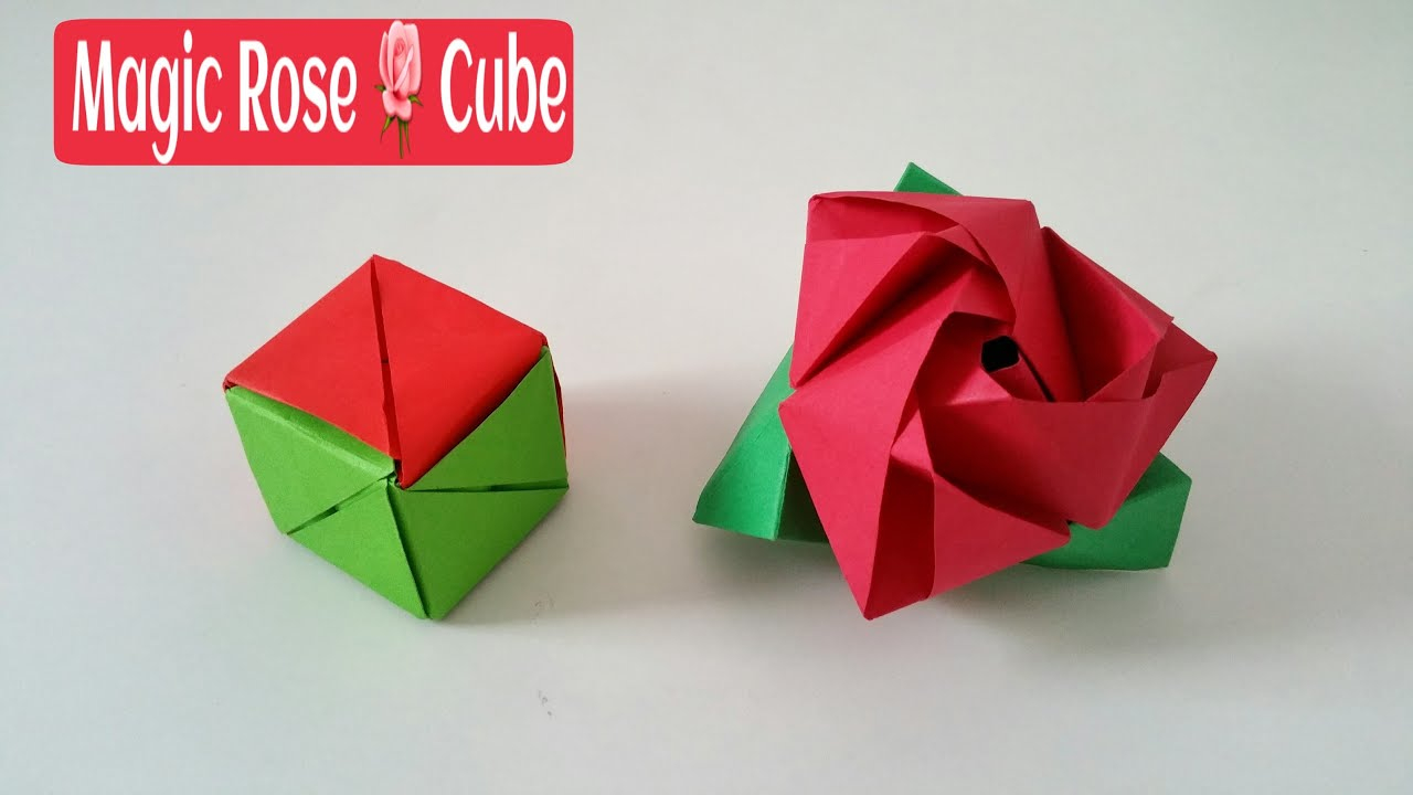 How To Fold Origami Cube Magic Rose Cube Diy Modular Origami Tutorial Paper Folds