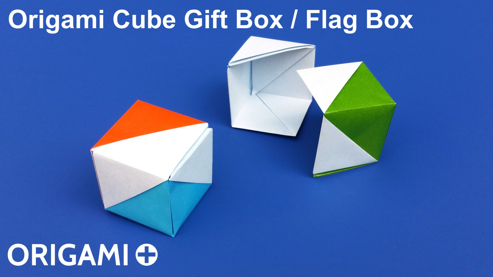 How To Fold Origami Cube Origami Cube Gift Box Flag Box