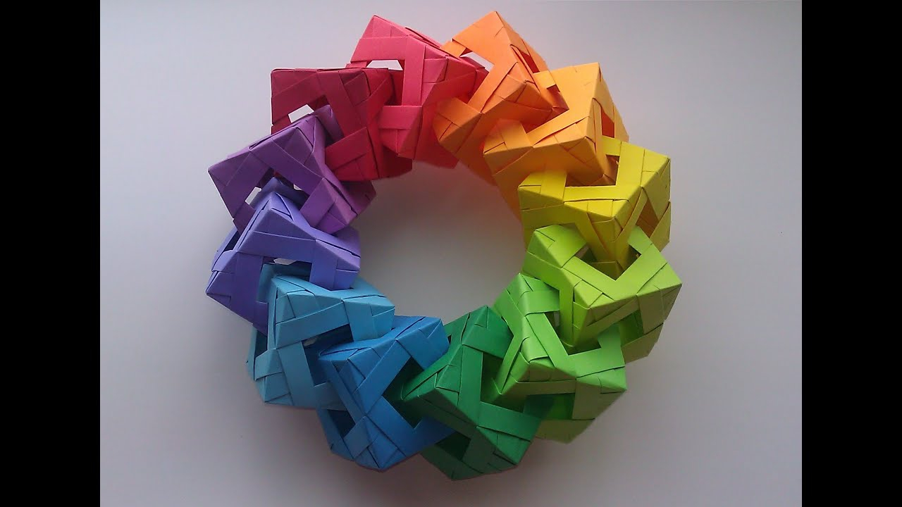 How To Fold Origami Cube Origami Cube Ring Tutorial