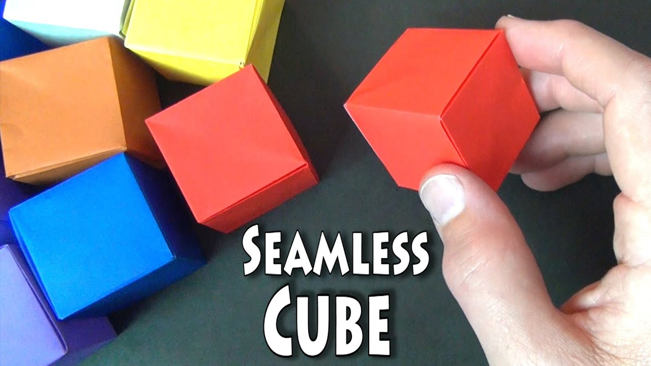 How To Fold Origami Cube Origami Seamless Cube