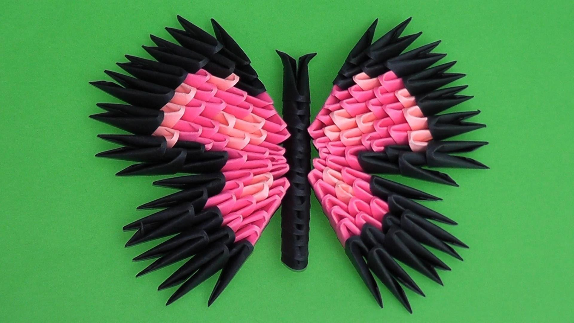 How To Make A 3D Origami Butterfly 3d Origami Butterfly Assembly Diagram Tutorial Instructions Variant 3