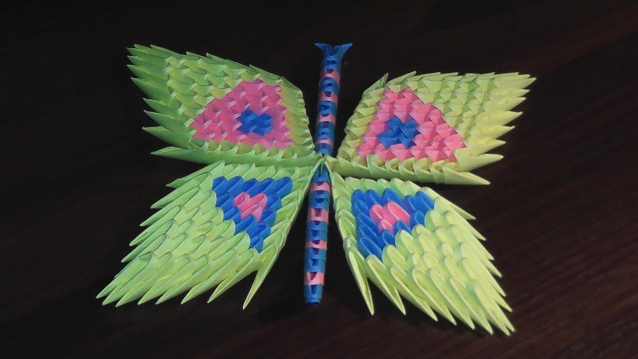 How To Make A 3D Origami Butterfly 3d Origami Butterfly Assembly Diagram Tutorial Instructions
