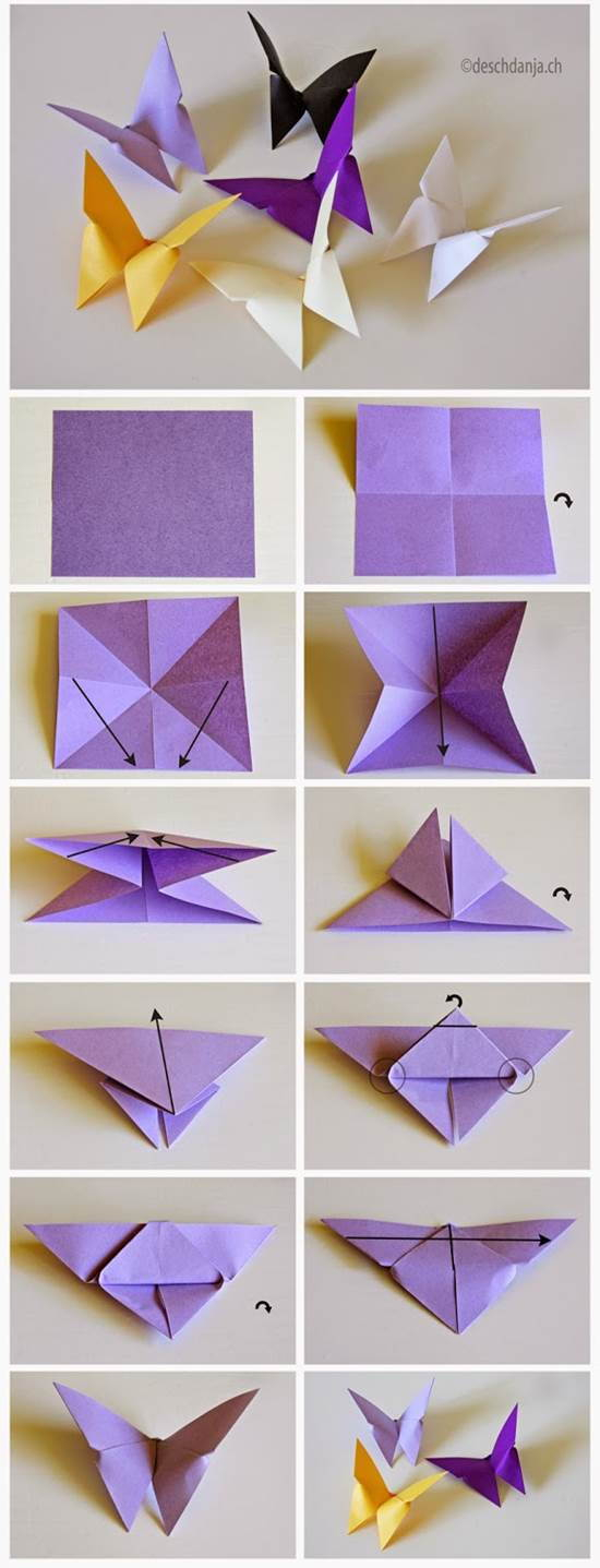 How To Make A 3D Origami Butterfly A Origami Butterfly