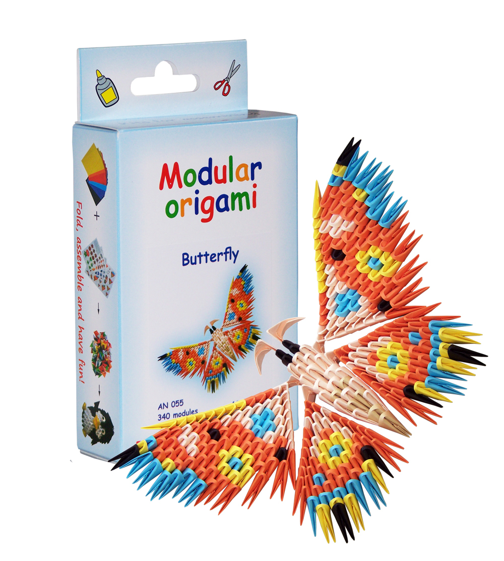 How To Make A 3D Origami Butterfly Butterfly 340 Modules