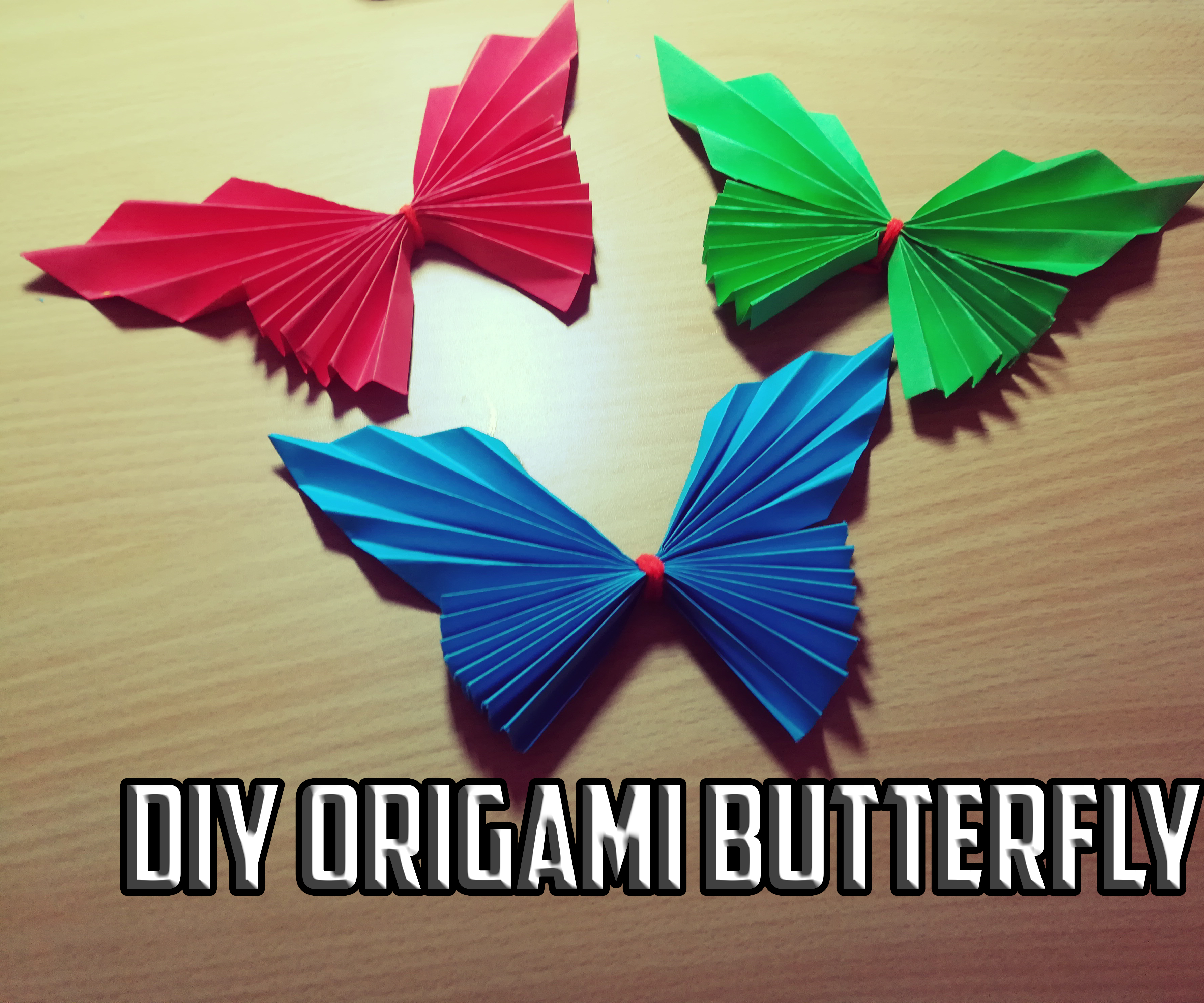 How To Make A 3D Origami Butterfly Diy Origami Butterfly 5 Steps With Pictures
