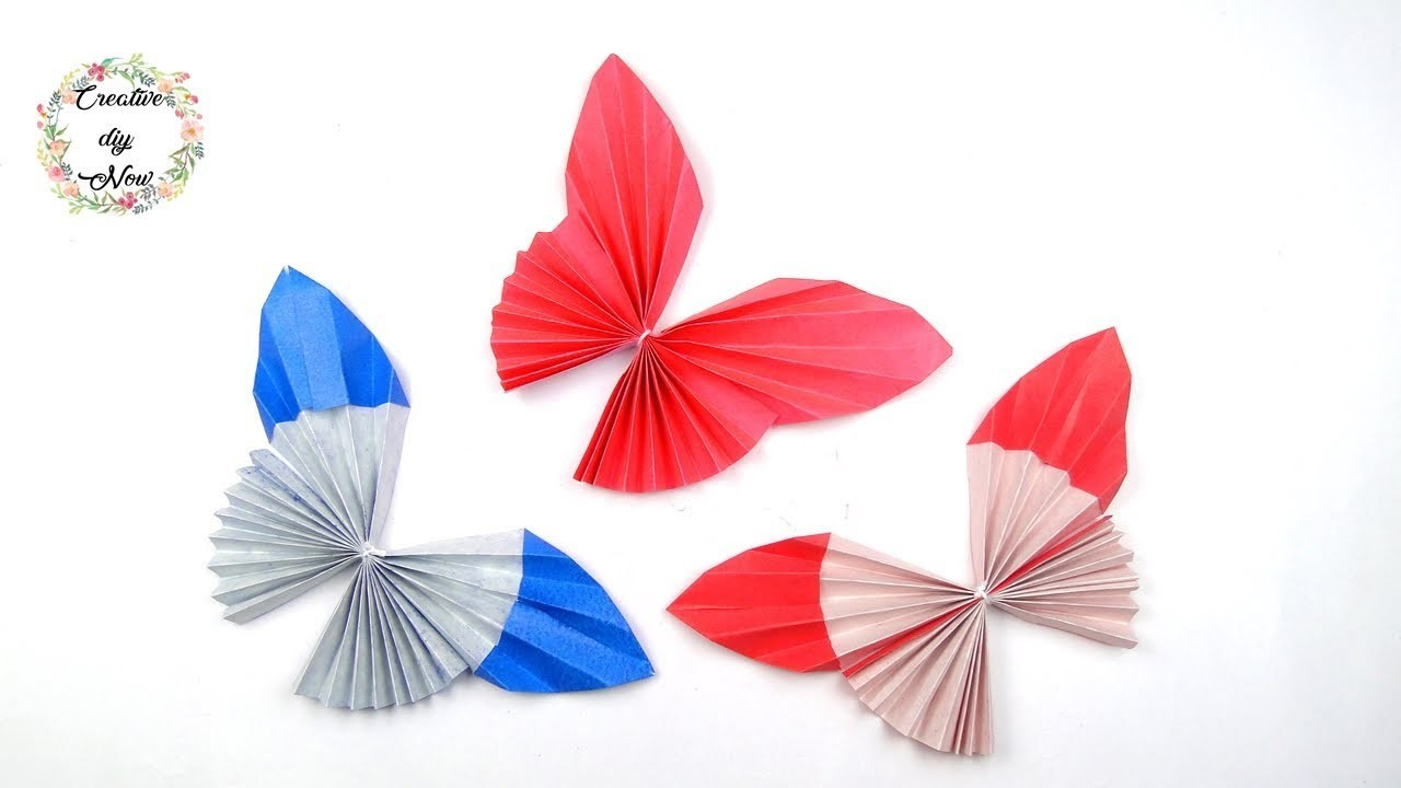 How To Make A 3D Origami Butterfly Diy Origami Butterfly How To Make Paper Butterfly 3d Butterfly