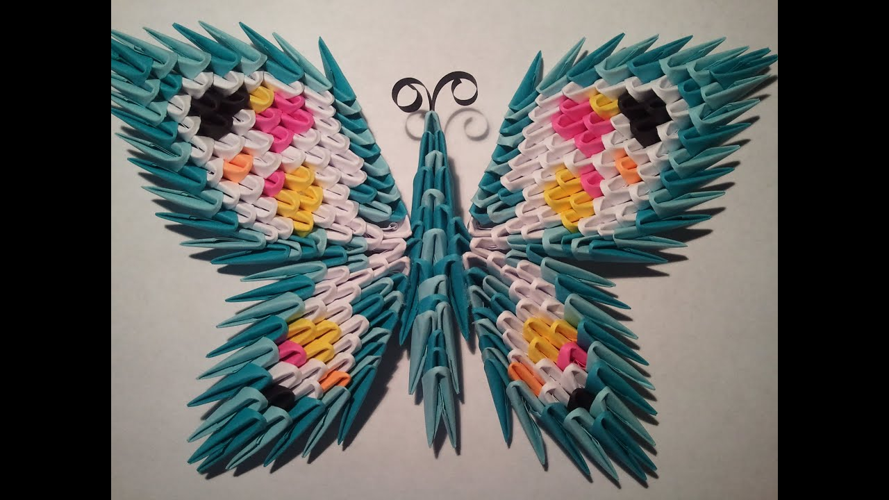 How To Make A 3D Origami Butterfly How To Make 3d Origami Butterfly 1 With Magnet