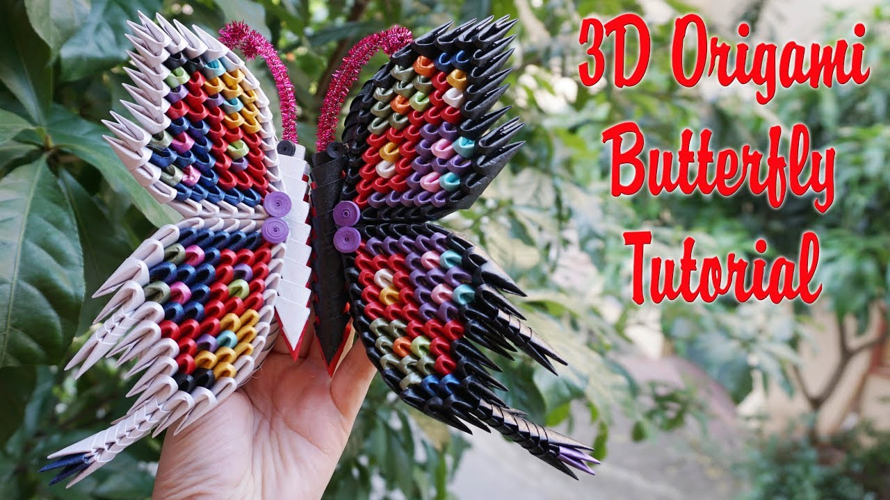 How To Make A 3D Origami Butterfly How To Make 3d Origami Butterfly V2 Diy Paper Butterfly Handmade Decoration Tutorial
