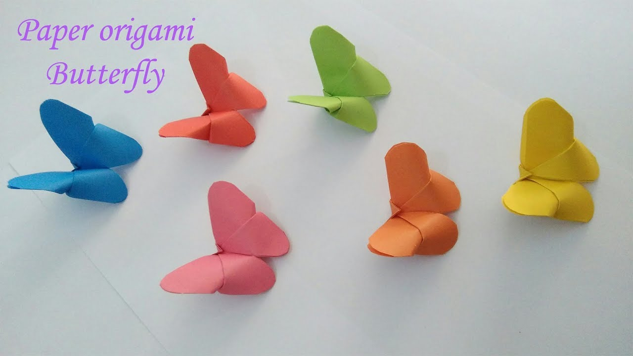 How To Make A 3D Origami Butterfly Paper Origami Butterfly 3d Butterfly How To Easy For All Tutorial Wall Decor