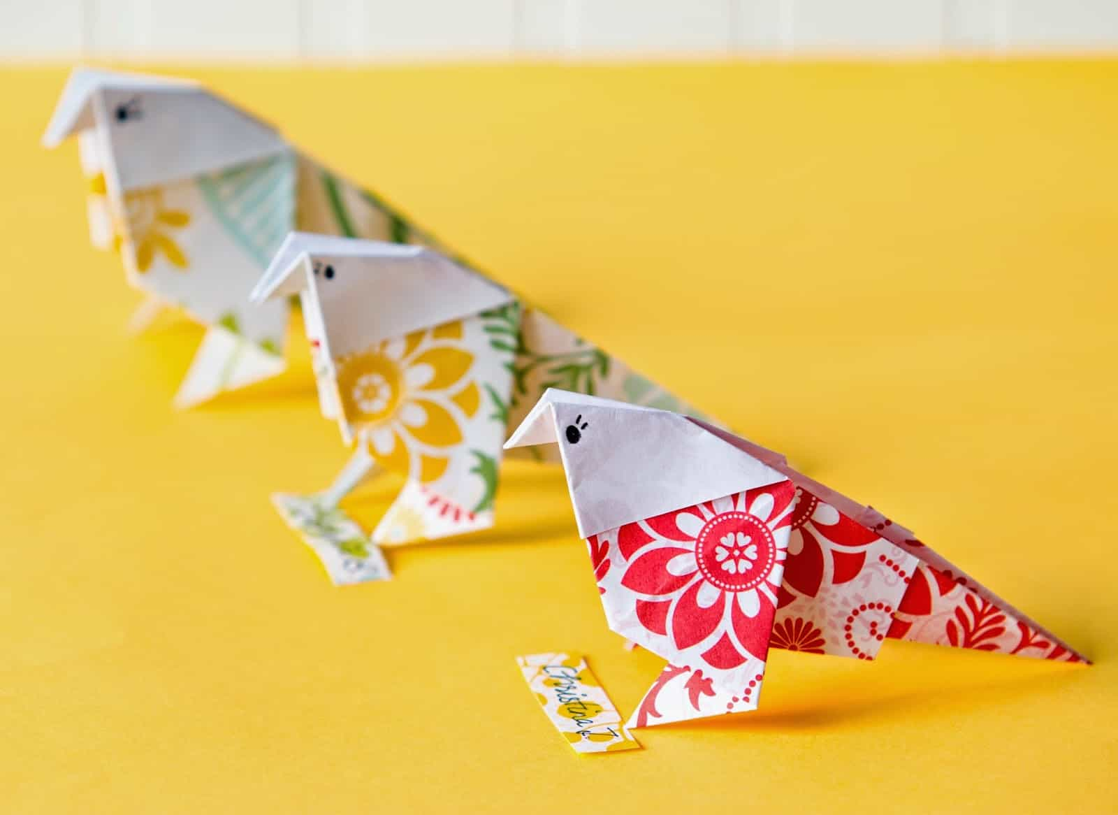 How To Make A Bird With Origami 12 Colorful Bird Crafts