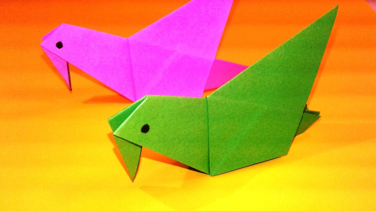How To Make A Bird With Origami 66 Delicate Recommendations Origami Paper Bird Video