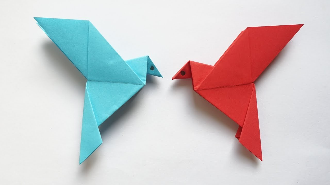 How To Make A Bird With Origami Easy Origami Bird How To Make Simple Origami Bird Paper Art And Craft