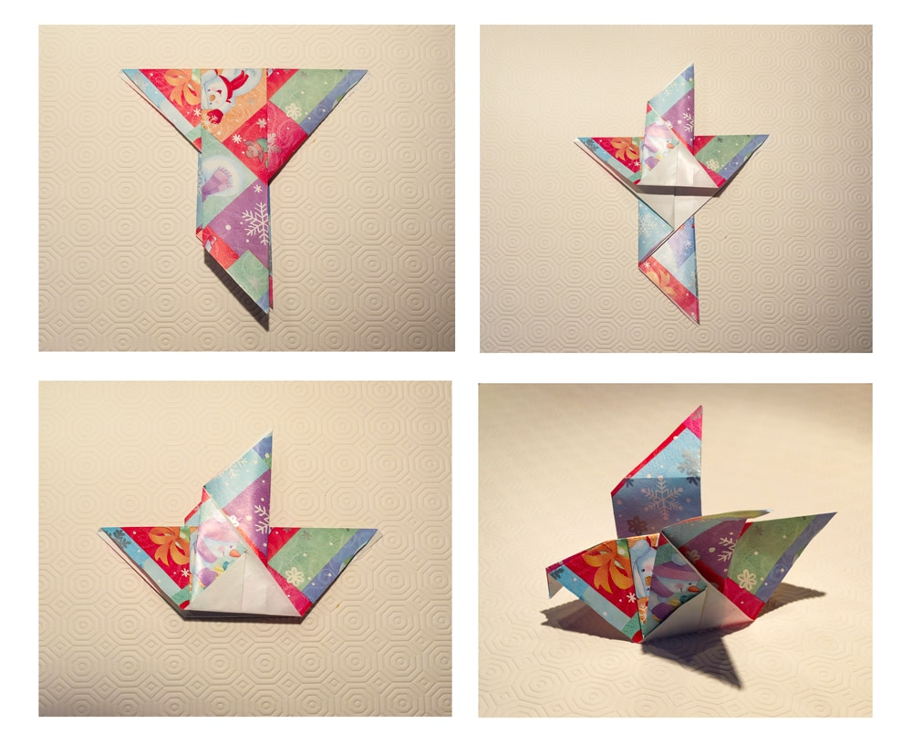 How To Make A Bird With Origami Easy Origami Birds And The Christmas Bird Count Play Cbc Parents