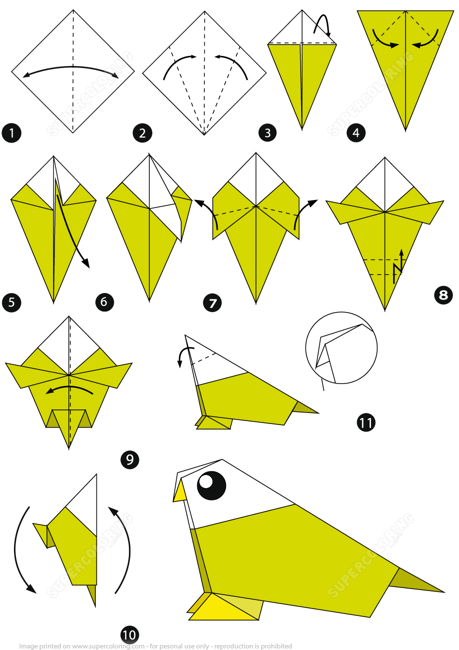 How To Make A Bird With Origami How To Make An Origami Bird Step Step Instructions Free