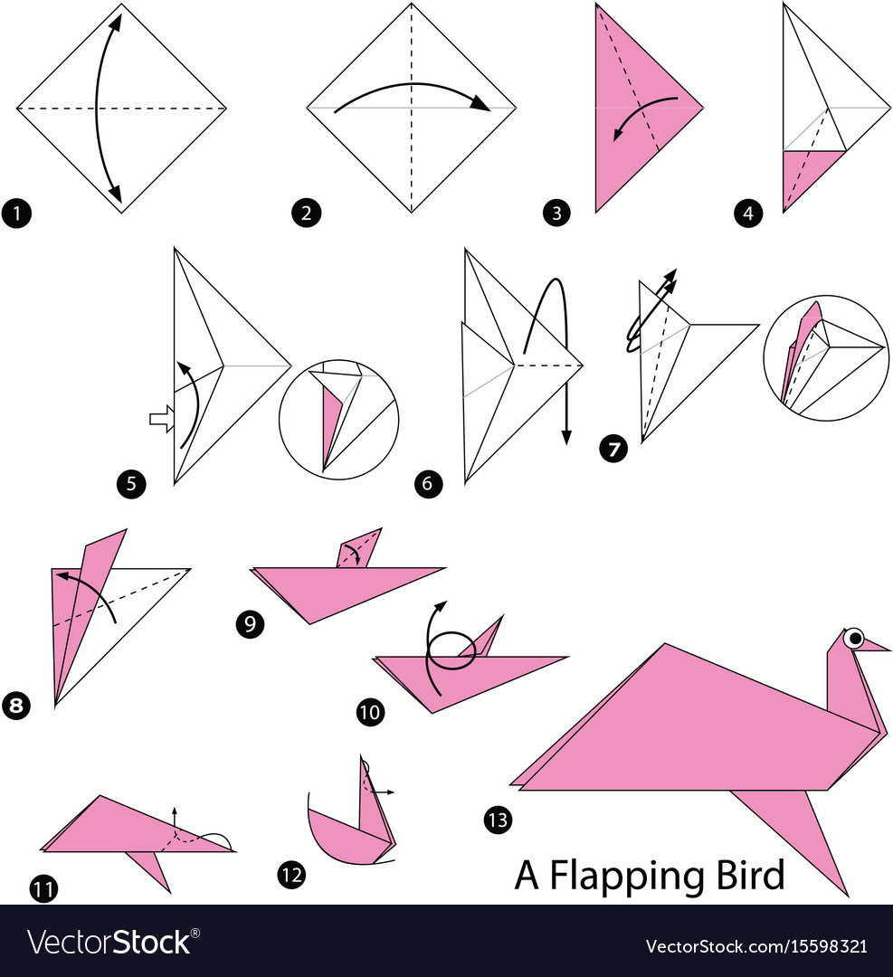 How To Make A Bird With Origami Make Origami A Flapping Bird