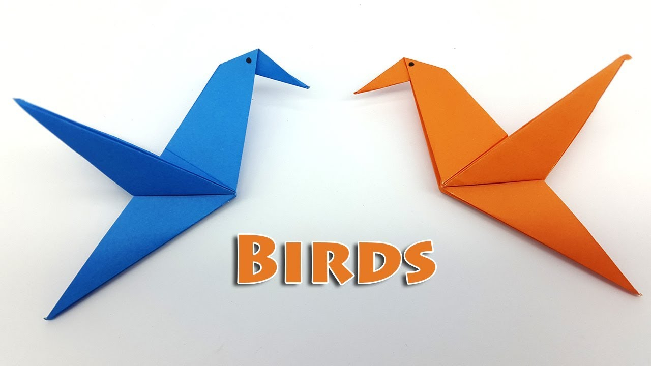 How To Make A Bird With Origami Origami Bird Instructions For Kids How To Make A Paper Bird Easy Step Step