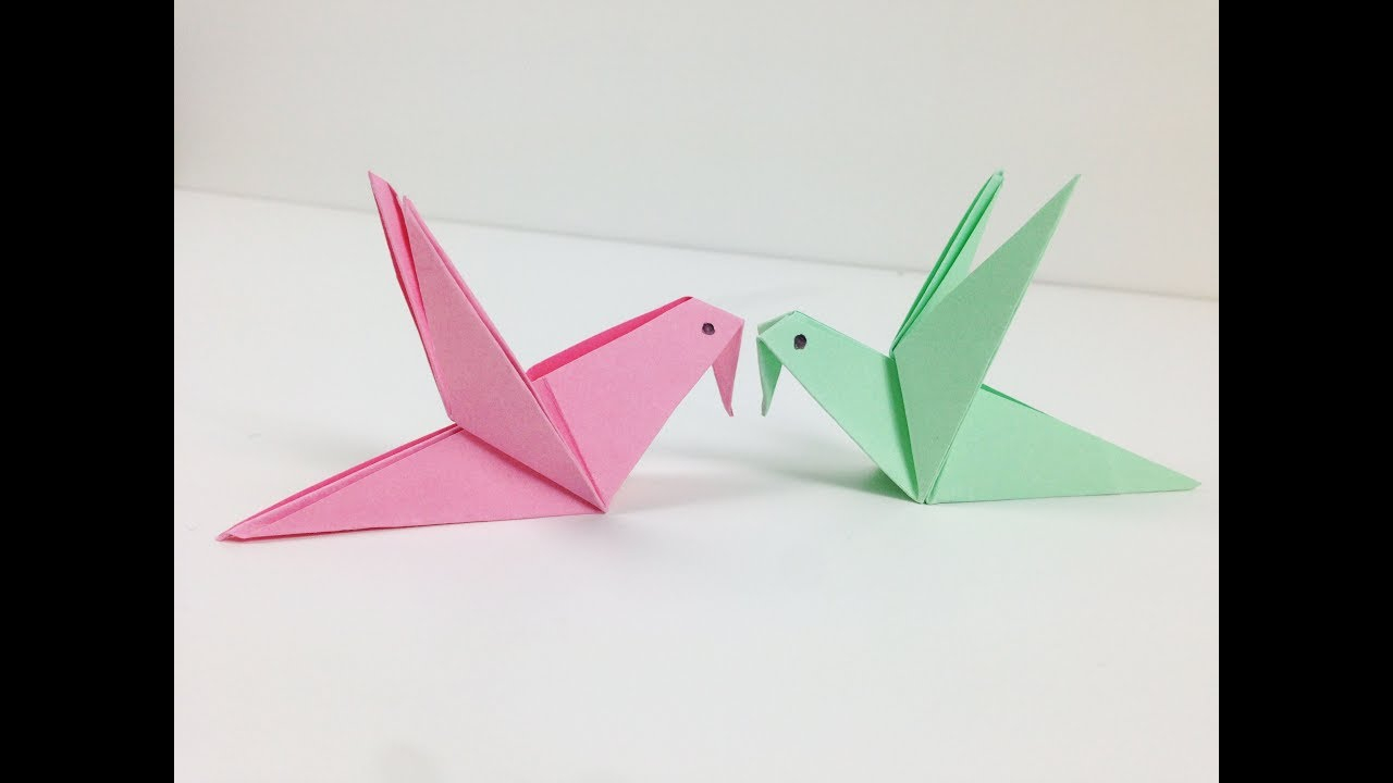 How To Make A Bird With Origami Origami Birds How To Make A Cute Origami Paper Bird An Origami Bird For Beginners Easy Tutorial