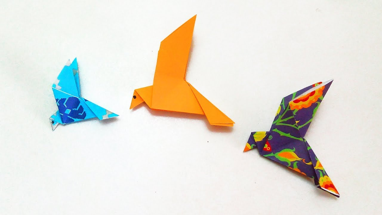 How To Make A Bird With Origami Origami Flapping Bird Paper Birds Wall Hanging How To Make A Paper Bird That Can Fly