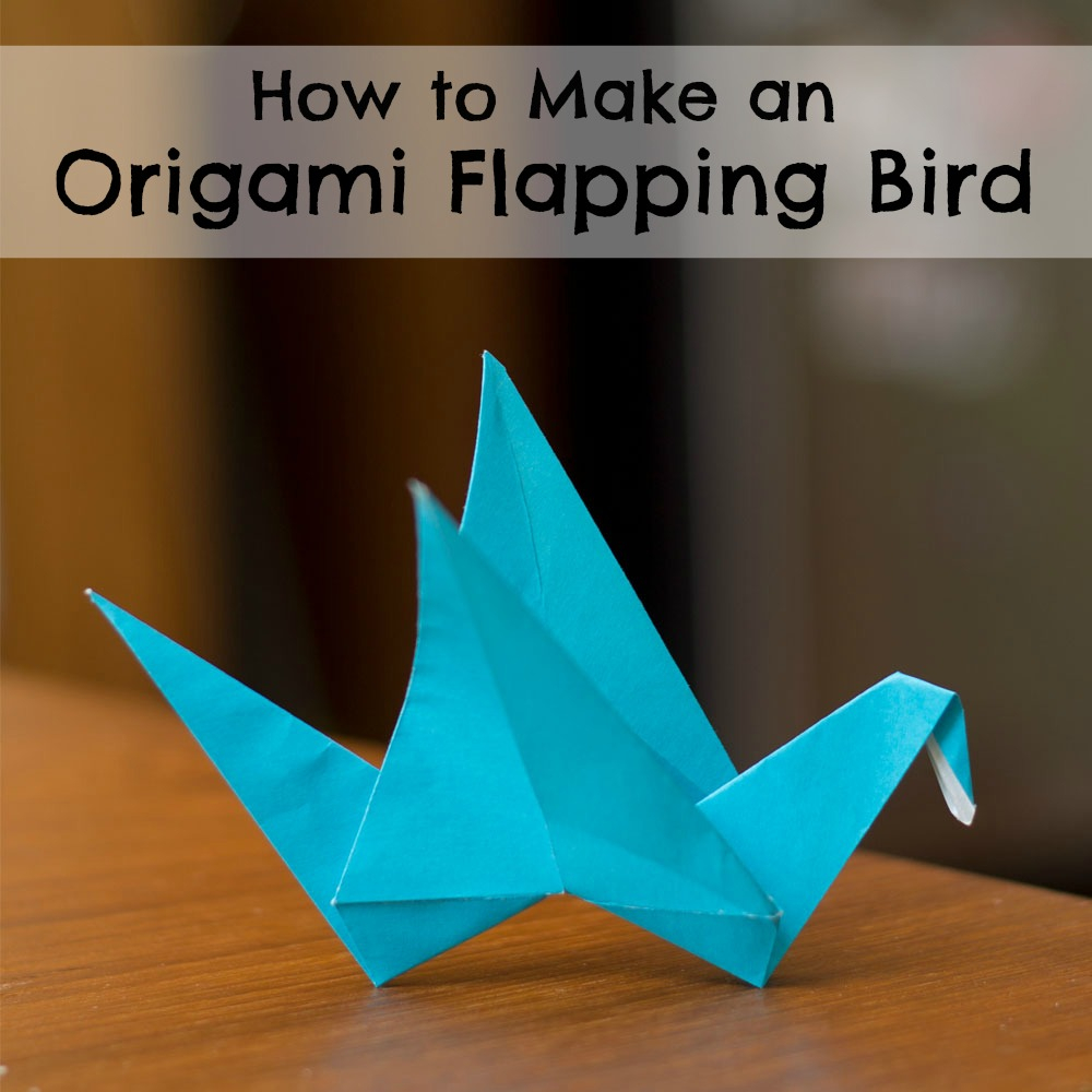 How To Make A Bird With Origami Origami Flapping Bird Researchparent