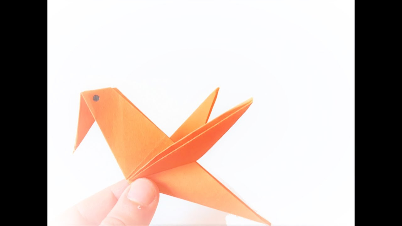 How To Make A Bird With Origami Origami Flying Bird How To Draw A Bird Flying Step Step Make