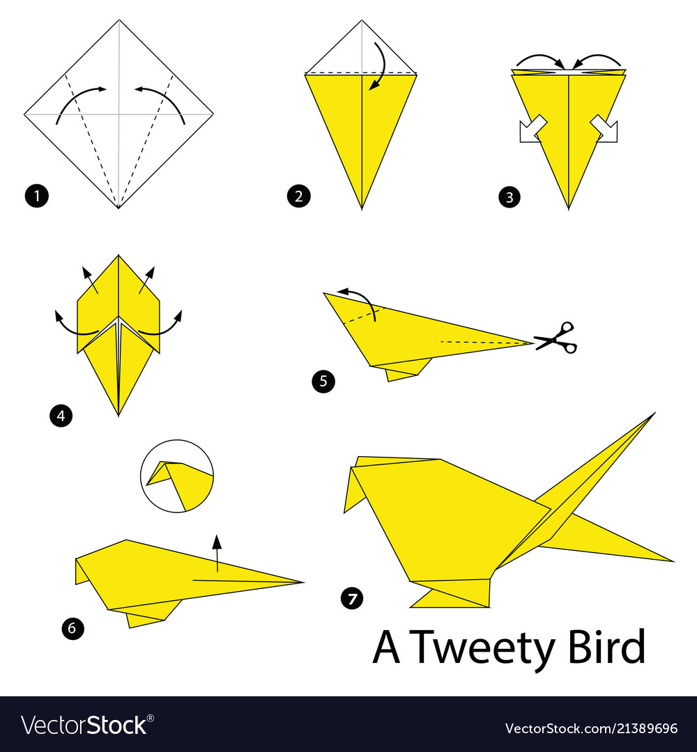 How To Make A Bird With Origami Step Instructions How To Make Origami A Bird